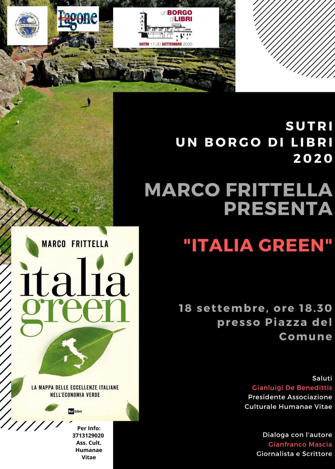 Marco Frittella presenta ITALIA GREEN