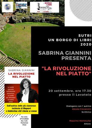 Sabrina Giannini presenta LA RIVOLUZIONE NEL PIATTO